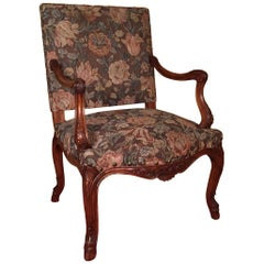 19th Century Lordly Neo Baroque Armchair Solid Walnut
