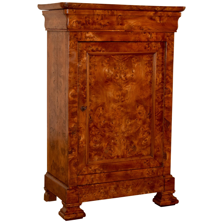 19th Century Louis Philippe Burl Cabinet