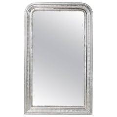 19th Century Louis Philippe Cushion Frame Silver Gilt Mirror