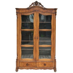 19th Century Louis Philippe Display Cabinet or Bookcase, Southern Germany