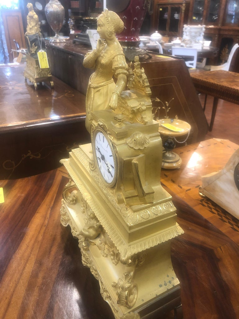 Mid-19th Century 19th Century Louis Philippe French Mantel Clock, 1830s For Sale