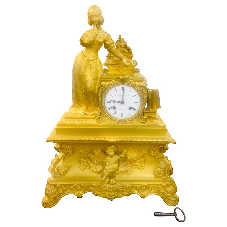 19th Century Louis Philippe French Mantel Clock, 1830s For Sale