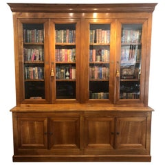 "19th Century Louis Philippe French Provincial ""Bibliotheque"" Bookcase"