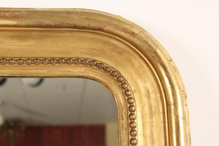 Gesso 19th Century Louis Philippe Mirror