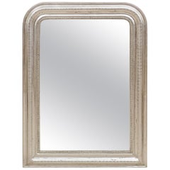 19th Century Louis Philippe Mirror with Silver Leaf Frame
