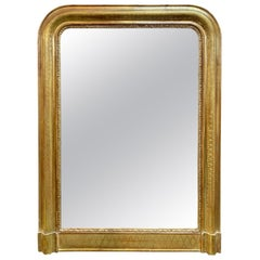 19th Century Louis Philippe Mirror with X-Pattern