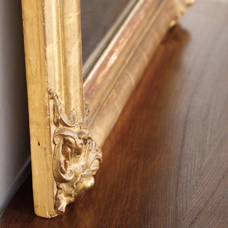 19th Century Louis Philippe Period Giltwood Mirror For Sale 6