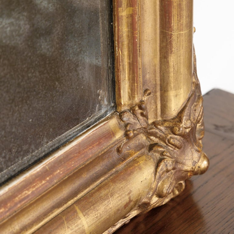 19th Century Louis Philippe Period Giltwood Mirror For Sale 8