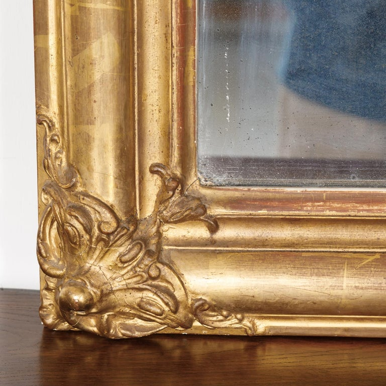 Mid-19th Century 19th Century Louis Philippe Period Giltwood Mirror For Sale