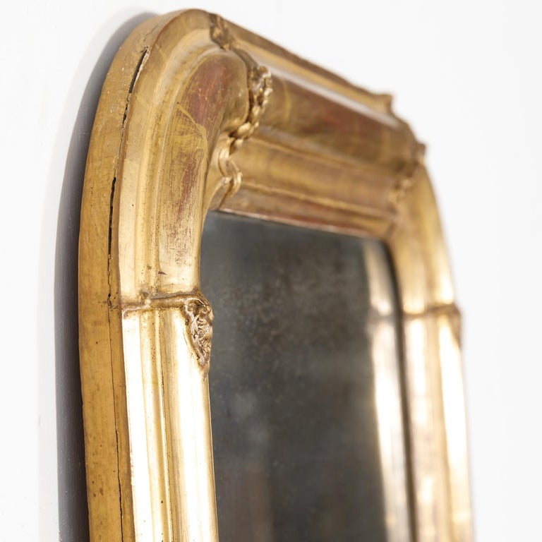 19th Century Louis Philippe Period Giltwood Mirror For Sale 4