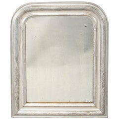 19th Century Louis Philippe Silver Gilt Framed Mirror