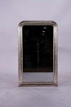 19th Century Louis Philippe Silver Mirror