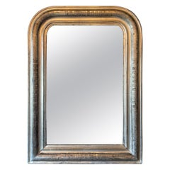 19th Century Louis Philippe Silver Wall Mirror