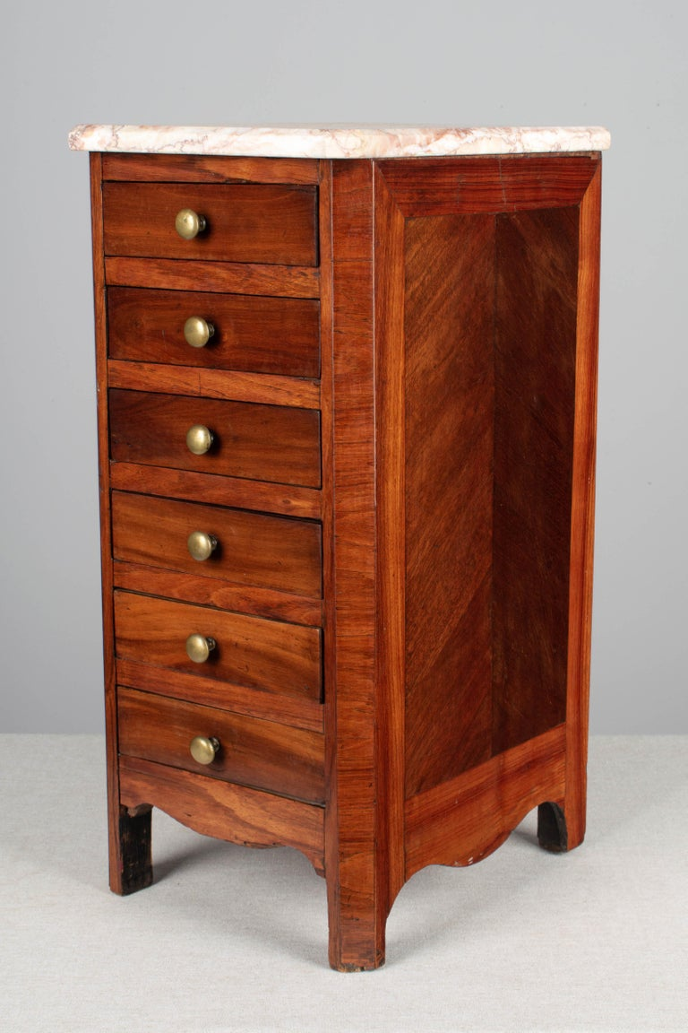 Hand-Crafted 19th Century Louis Philippe Style Miniature Commode For Sale