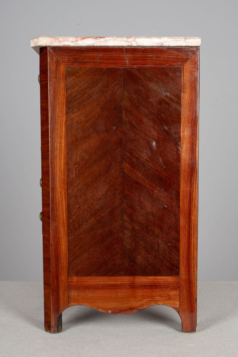 Mahogany 19th Century Louis Philippe Style Miniature Commode For Sale