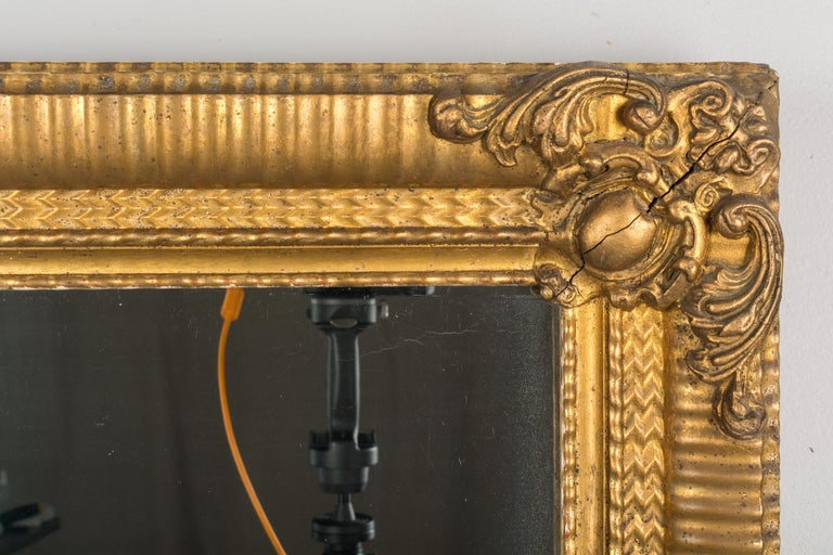 Hand-Crafted 19th Century Louis Philippe Style Mirror For Sale