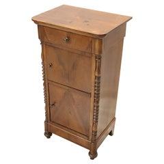 19th Century Louis Philippe Walnut Wood Antique Nightstand