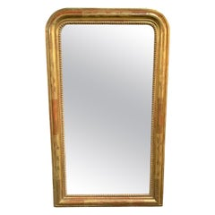 19th Century Louis Phillipe Gold Gilded Mirror