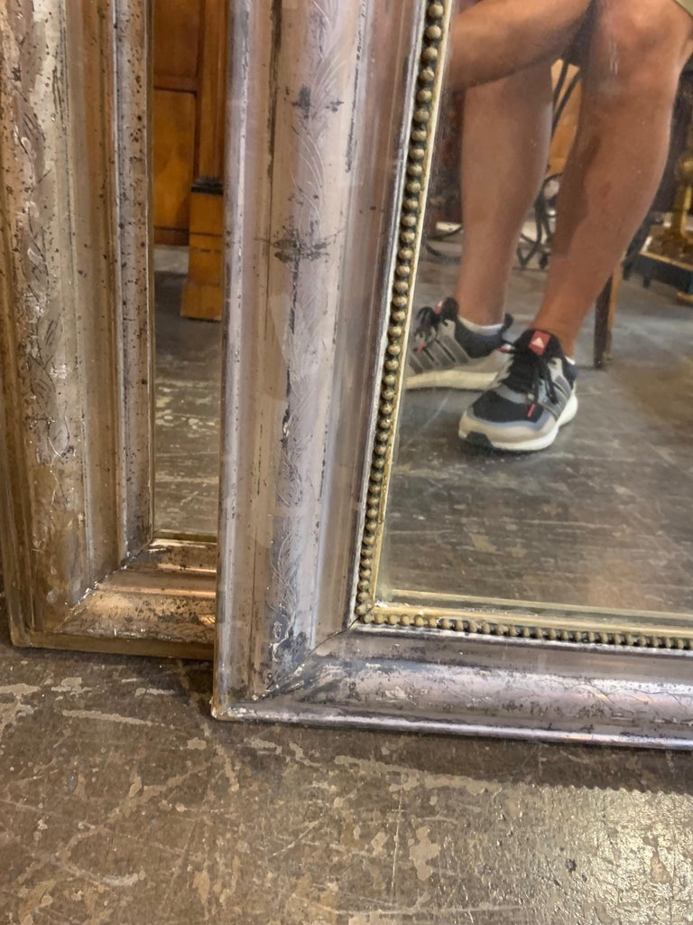 French 19th Century Louis Phillipe Mirror with Crest For Sale
