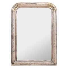 19th Century Louis Phillippe Silver Gilt Mirror