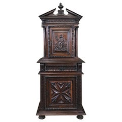 19th Century Louis XIII French Walnut Two-Tiered Cabinet