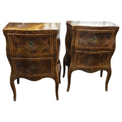 19th Century Louis XV Italian Rosewood Night Stand Beside Table, 1890s