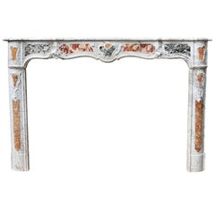 19th Century Louis XV Marble Chimneypiece
