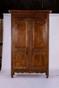 19th Century Louis XV Oak Armoire