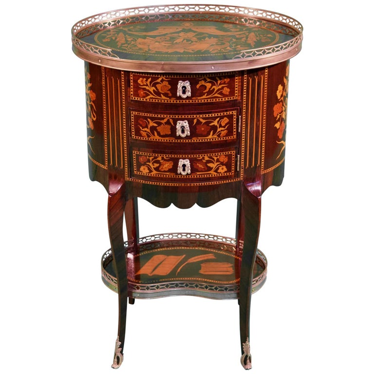 19th Century Louis XV Rosewood Nightstands For Sale