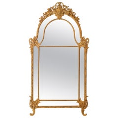 19th Century Louis XV St. Double Framed Giltwood Mirror