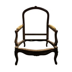 19th Century Louis XV Style Bergère Chair Frame