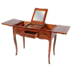 19th Century Louis XV Style Dressing Table, Plum Wood, France, circa 1890