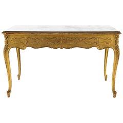 19th Century Louis XV Style Giltwood Bureau Plat