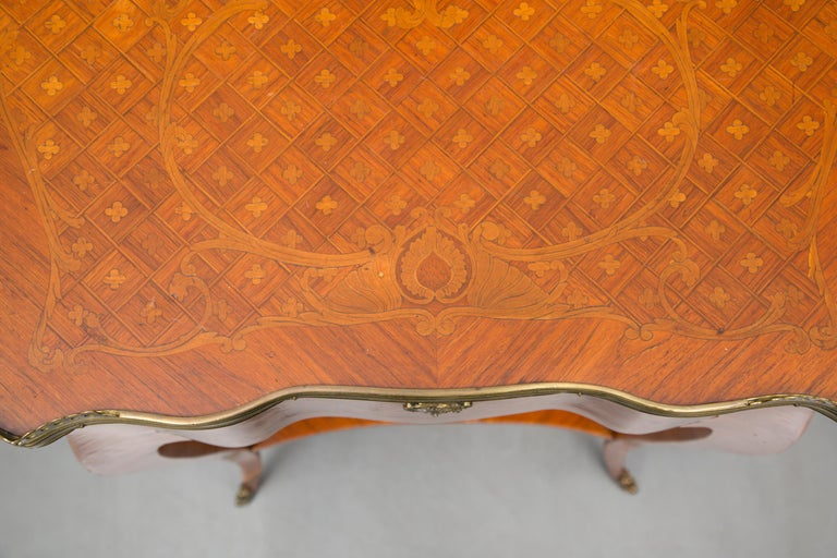 19th Century Louis XV Style Inlaid Side Table For Sale 1