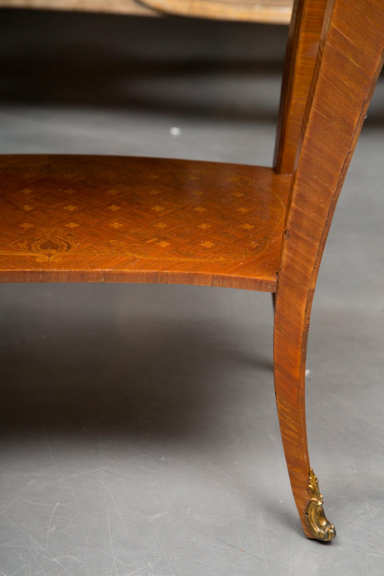19th Century Louis XV Style Inlaid Side Table For Sale 3