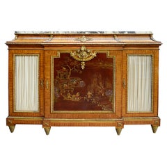 19th Century Louis XV Style Japanned Lacquer Side Cabinet by Beauderley