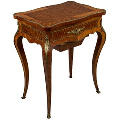 19th Century Louis XV Style Marquetry Table