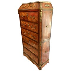 19th Century Louis XV Style Ormolu-Mounted Kingwood Lingerie Chest