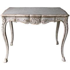 19th Century Louis XV Style Painted Centre Table with Drawer