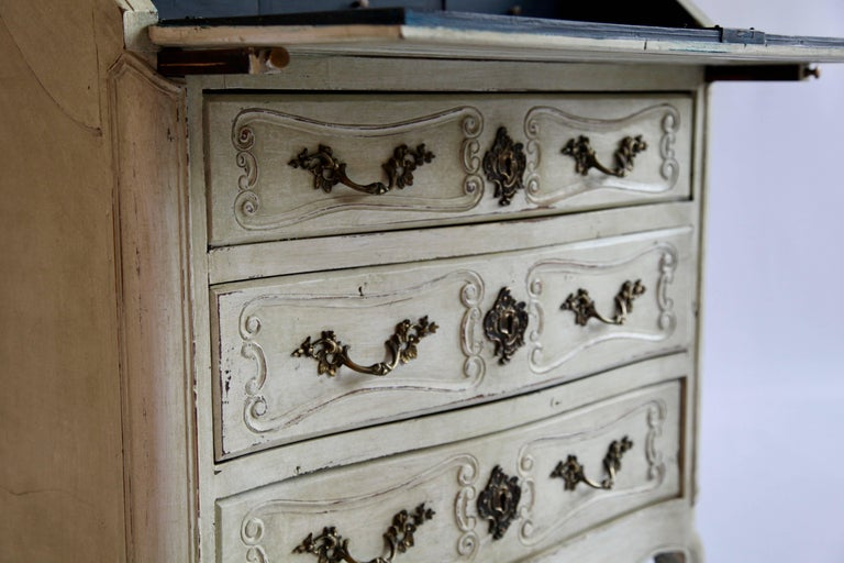 Wood 19th Century Louis XV Style Scriban For Sale
