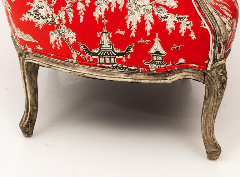 Painted 19th Century Louis XV Style Settee For Sale