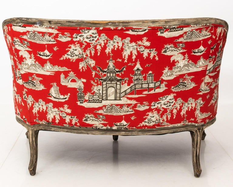 Wood 19th Century Louis XV Style Settee For Sale