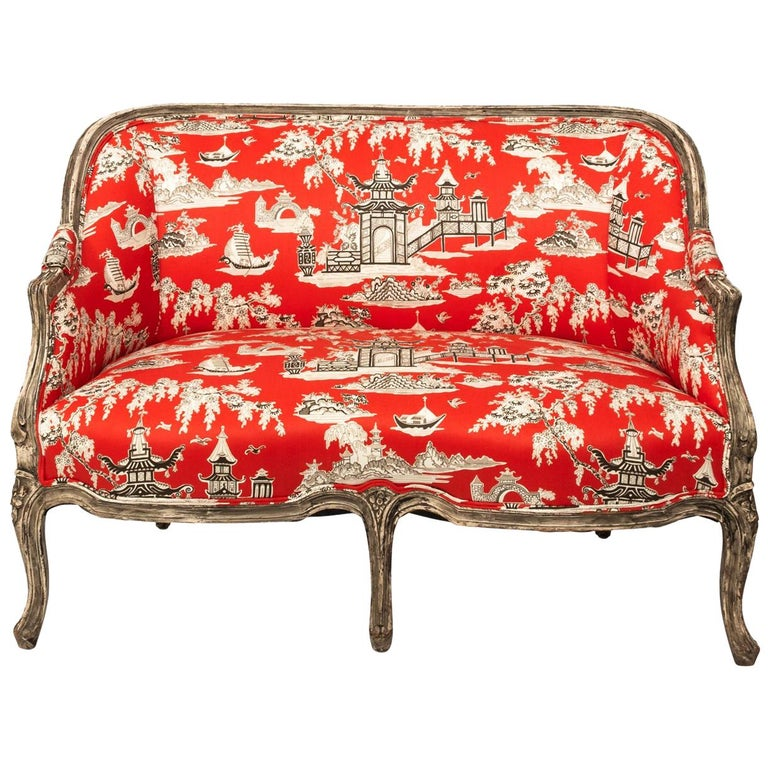 19th Century Louis XV Style Settee For Sale