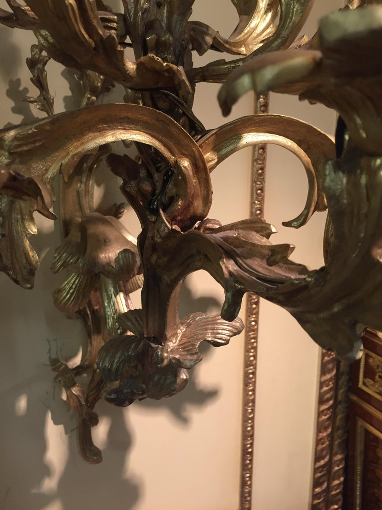 19th Century Louis XV Style Ten-Lighted Luminaire Wall Light For Sale 8