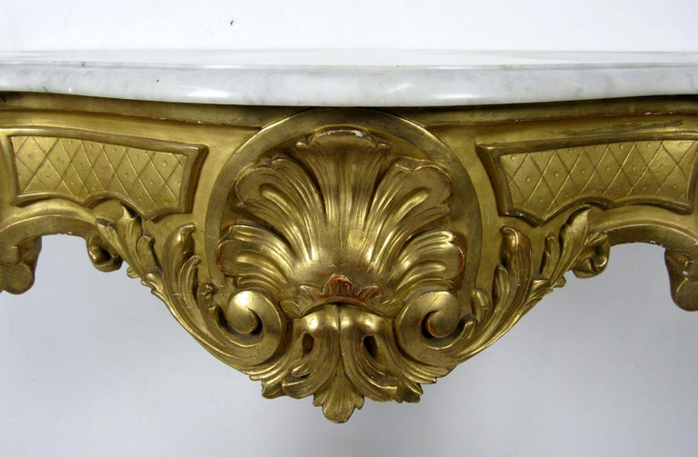 19th Century Louis XV Style Wall Console For Sale 6