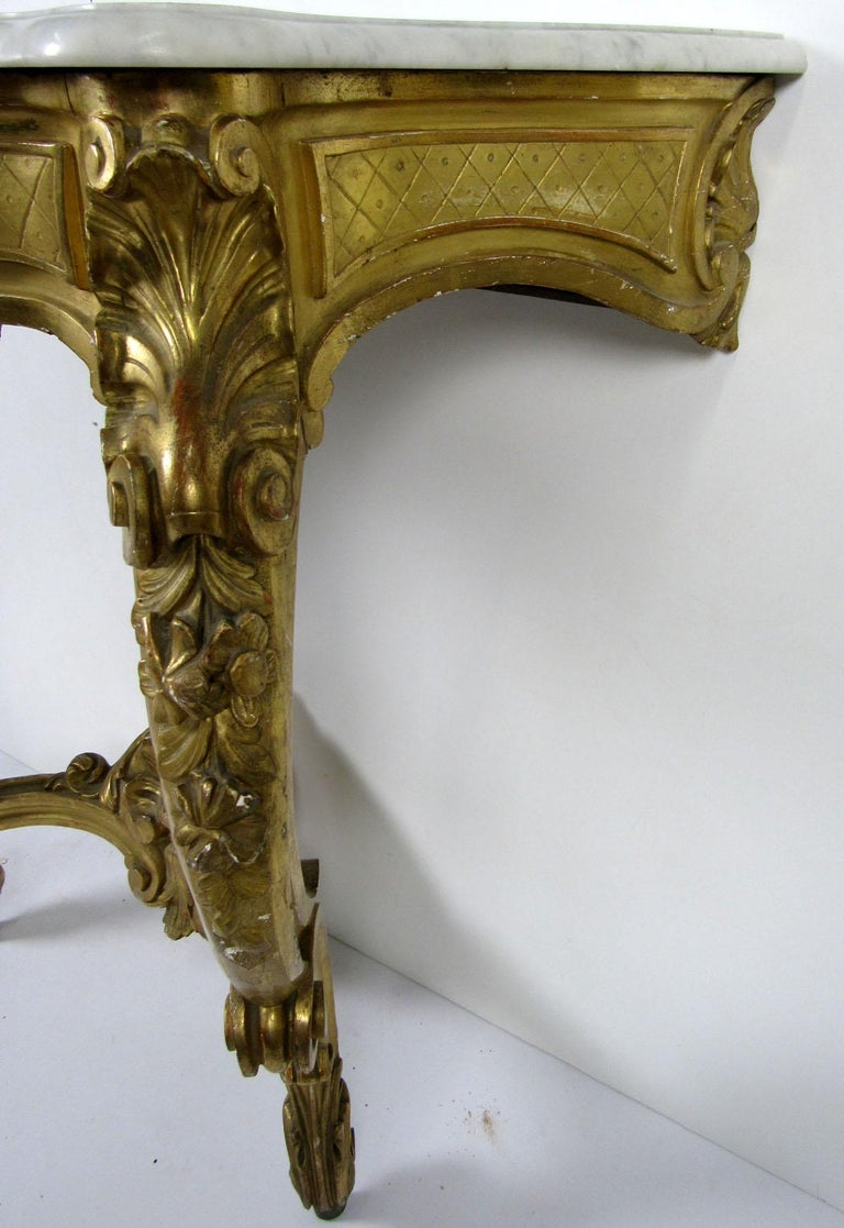 19th Century Louis XV Style Wall Console For Sale 7