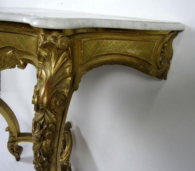 19th Century Louis XV Style Wall Console For Sale 8