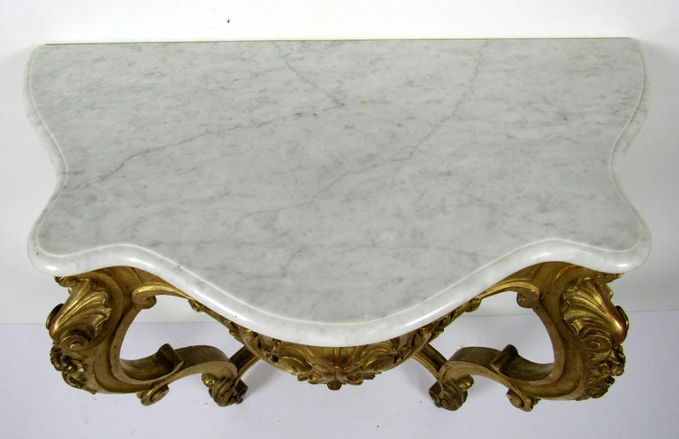 19th Century Louis XV Style Wall Console For Sale 9