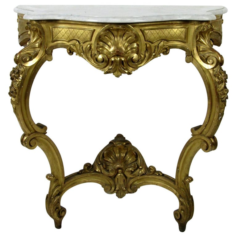 19th Century Louis XV Style Wall Console For Sale