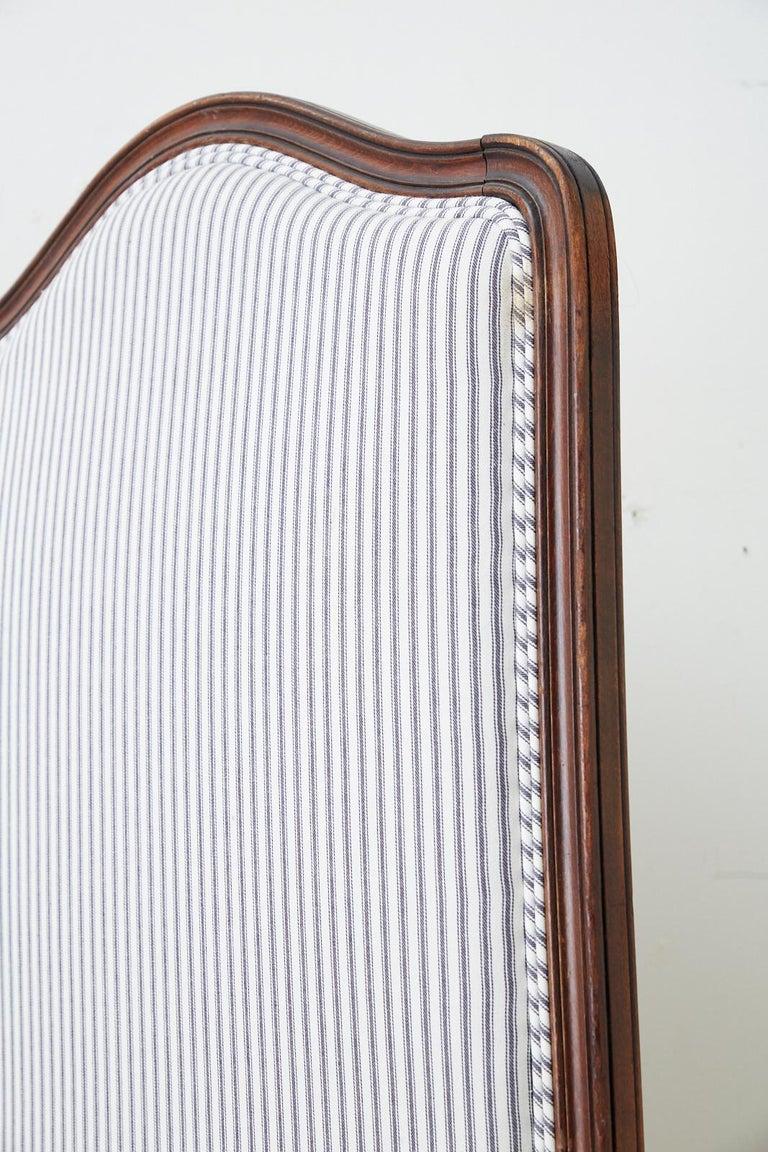 19th Century Louis XV Style Walnut Three-Panel Folding Screen For Sale 5